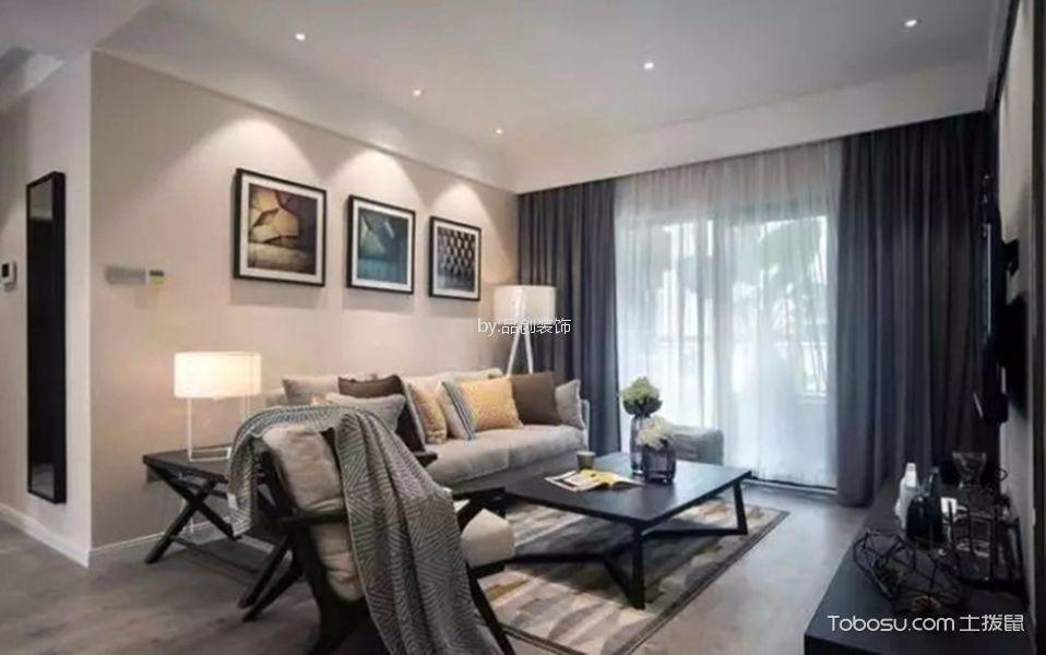 东亚风尚90m²现代简约两居室装修效果图