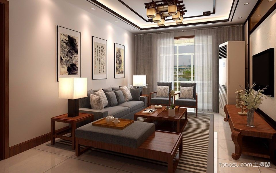18万预算125平米三室两厅装修效果图