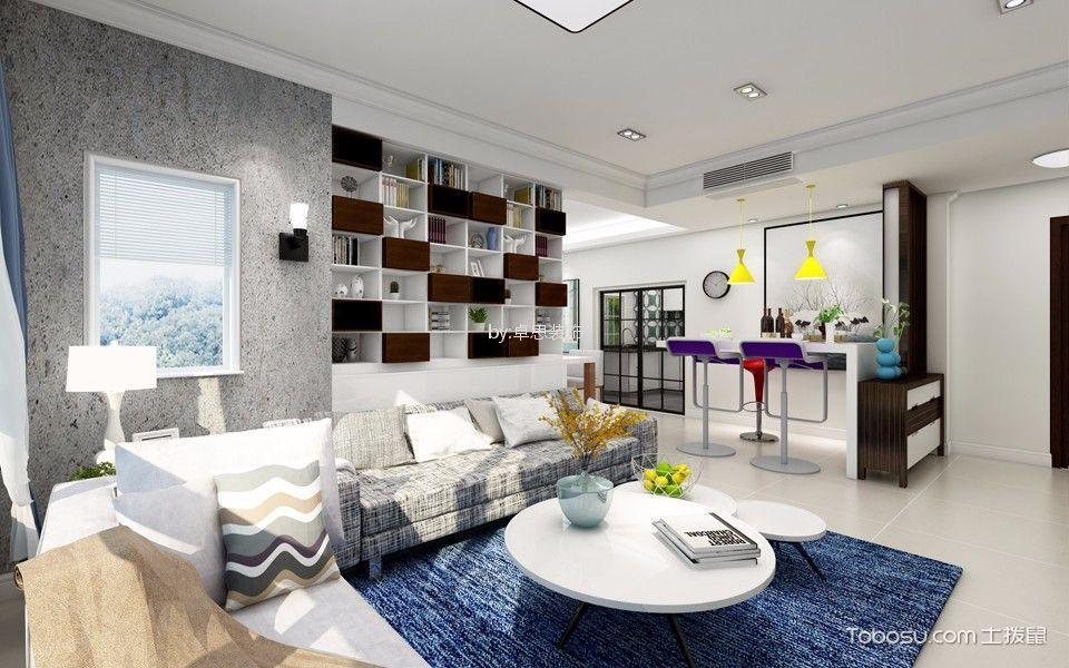 保利香槟120平三居室现代风格装修效果图