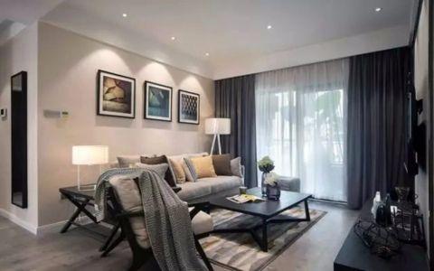 东亚风尚90平米现代简约两居室装修效果图