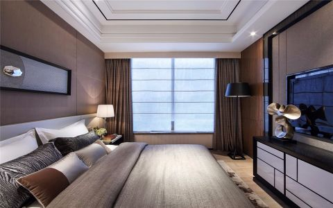 卧室窗帘现代简约风格装修设计图片