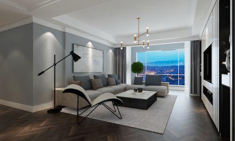 莱蒙都会现代风格三居室装修效果图