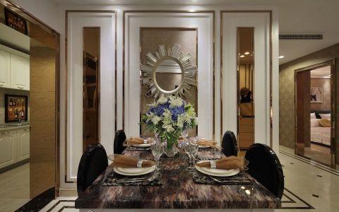 餐厅背景墙法式风格装修效果图