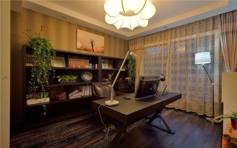 书房窗帘现代简约风格装饰设计图片
