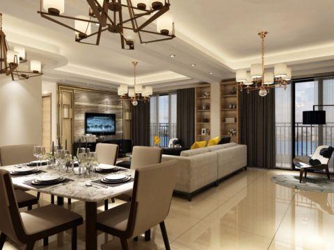 餐厅走廊现代简约风格效果图