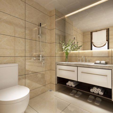 卫生间背景墙现代中式风格装修效果图
