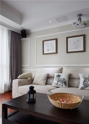 客厅照片墙现代简约风格装潢图片