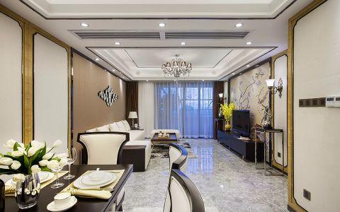 福景佳苑160平欧式风格四居室装修效果图