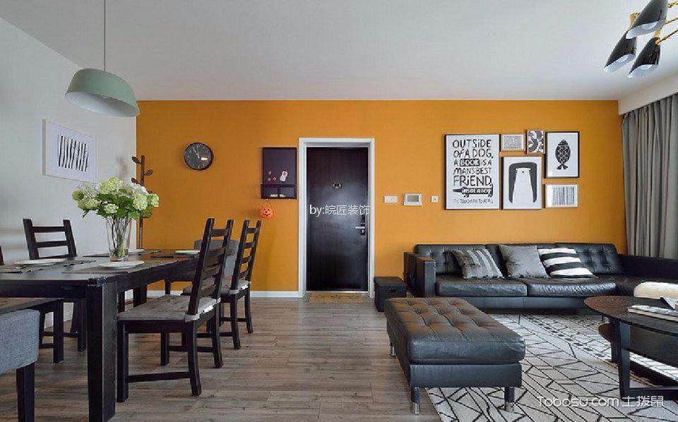 海洲景秀世家112平现代简约三居室装修效果图