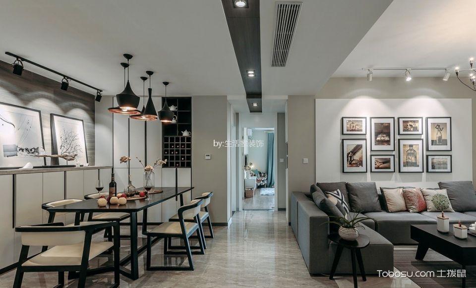 大户型现代风格三居室装修效果图