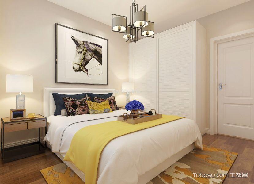 5.1万预算90平米两室两厅装修效果图