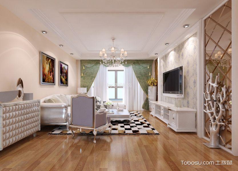 120欧式风格三居室装修效果图