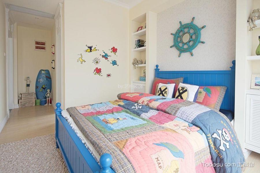 儿童房米色背景墙地中海风格装饰设计图片