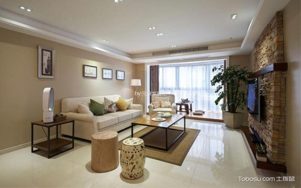 招商雍华府119平美式风格三居室装修效果图