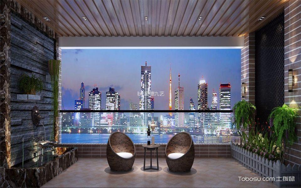 阳台米色地砖现代风格装修效果图