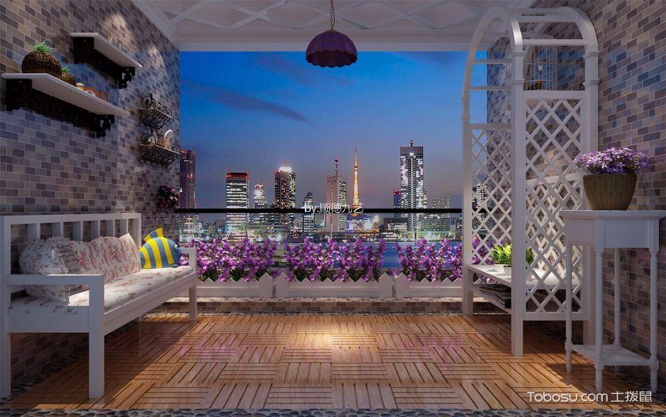 阳台白色沙发现代风格装饰图片