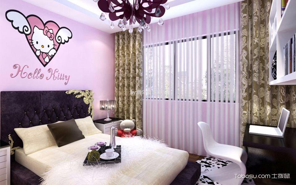 城阳怡源居156平新中式风格三居室装修效果图