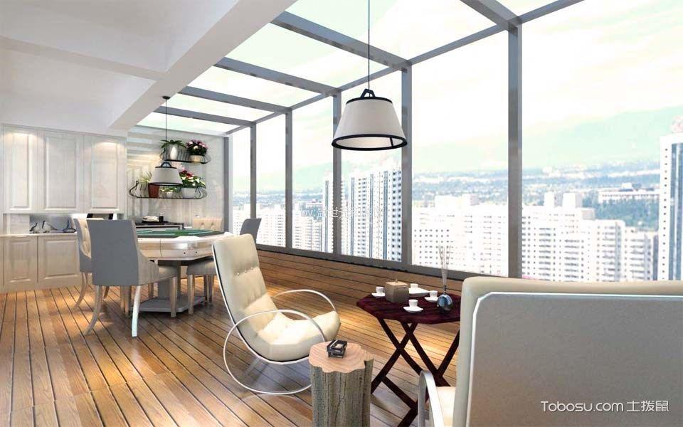 阳台白色窗台现代风格装饰效果图