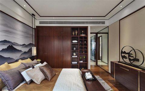 卧室衣柜新中式风格装潢效果图