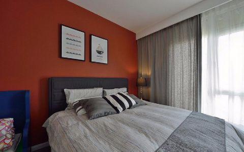 卧室窗帘现代简约风格装潢图片