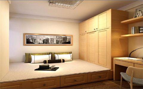 卧室榻榻米现代中式风格装饰设计图片