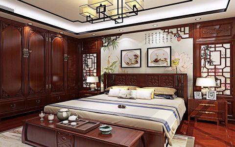 卧室衣柜中式风格装修图片
