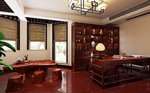 书房博古架中式风格装饰图片