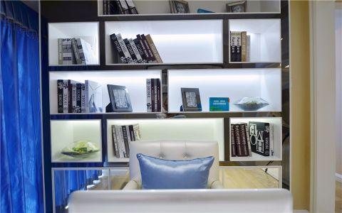 书房博古架现代简约风格装潢效果图