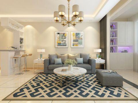 盛世华庭现代风两居室装修效果图