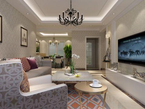 客厅电视柜现代风格装潢效果图