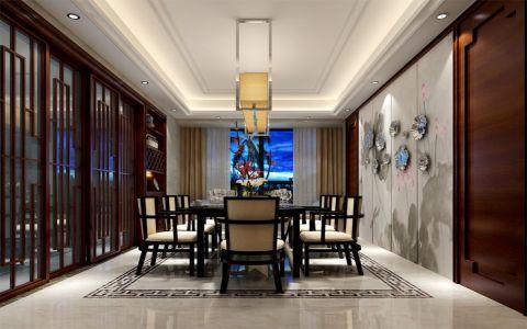 君兰江山中式风格三居室装修效果图