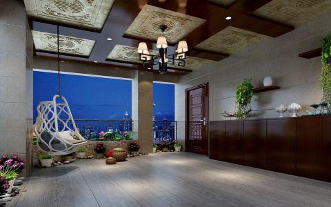 阳台吊顶中式风格装修图片
