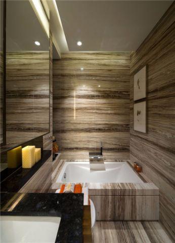 浴室浴缸现代简约风格装饰效果图