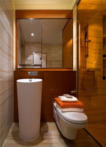 浴室隔断现代简约风格装潢效果图