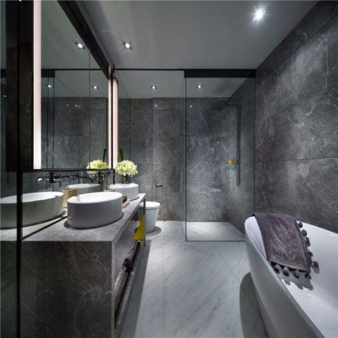 卫生间隔断现代风格装饰效果图