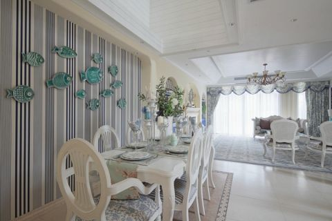 餐厅餐桌地中海风格装饰效果图