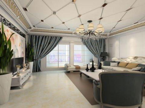 设计优雅简欧白色集成吊顶设计
