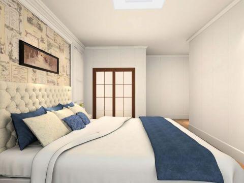 卧室床简欧风格装饰图片