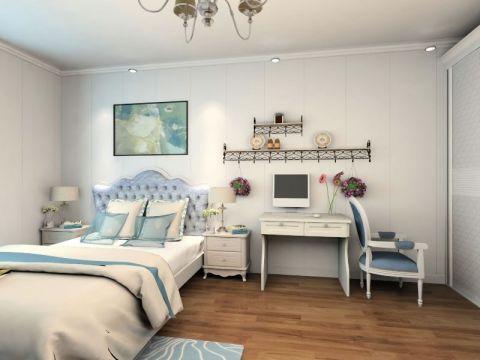 卧室书桌简欧风格装修设计图片