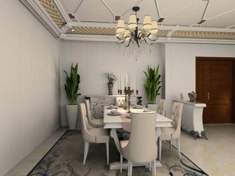 餐厅餐桌简欧风格装潢设计图片