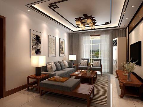 12万预算125平米两室两厅装修效果图