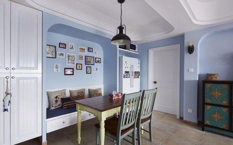 餐厅照片墙地中海风格装潢设计图片