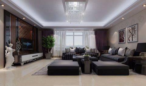 110平米现代简约三居室装修效果图
