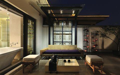 阳台地砖中式风格装修效果图