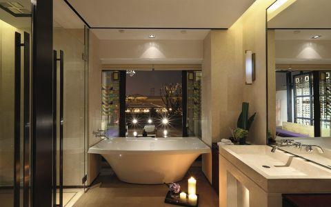 浴室浴缸中式风格装饰效果图
