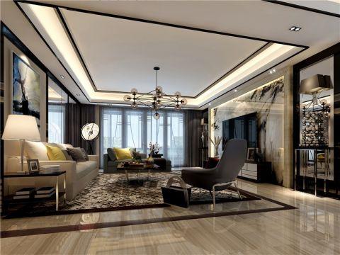 翠湖家园100平新中式风格三居室装修效果图