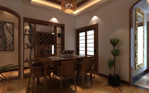 餐厅背景墙东南亚风格装潢效果图