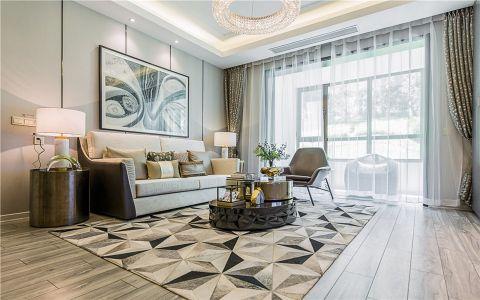 中天花园110平混搭风格三居室装修效果图