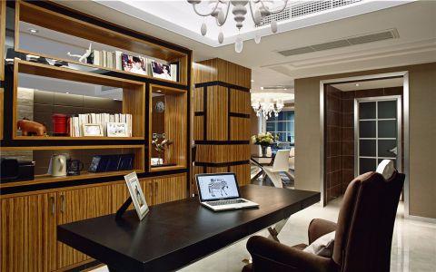书房窗台现代简约风格装饰图片