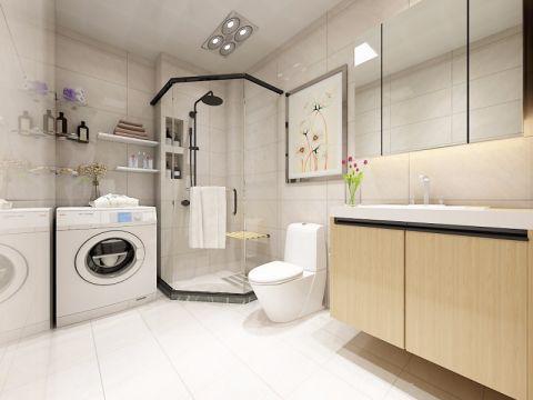 卫生间博古架现代简约风格装潢效果图